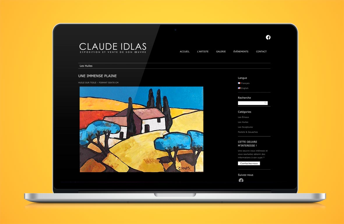 Claude Idlas - Site Web 2